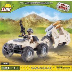 COBI 2194 Xếp hình kiểu Lego MILITARY ARMY ATV With Rocket Launcher All-terrain Vehicle With Rocket Launcher Xe địa Hình Có Bệ Phóng Tên Lửa 90 khối