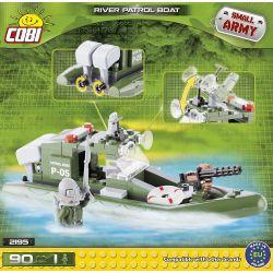 COBI 2195 Xếp hình kiểu Lego MILITARY ARMY River Patrol Boat Thuyền Tuần Tra Sông 90 khối