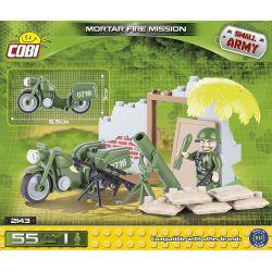 COBI 2143 Xếp hình kiểu Lego MILITARY ARMY Mortar Fire Mission Mortar Mission Nhiệm Vụ Cối 55 khối