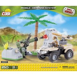 COBI 2344 Xếp hình kiểu Lego MILITARY ARMY Mobile Defence System Mobile Defense System Hệ Thống Phòng Thủ Di động 150 khối