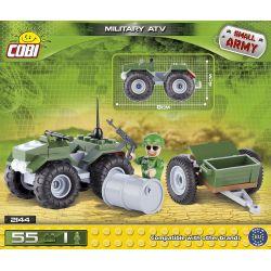 COBI 2144 Xếp hình kiểu Lego MILITARY ARMY Military ATV Military All-terrain Vehicle Xe địa Hình Quân Sự 55 khối