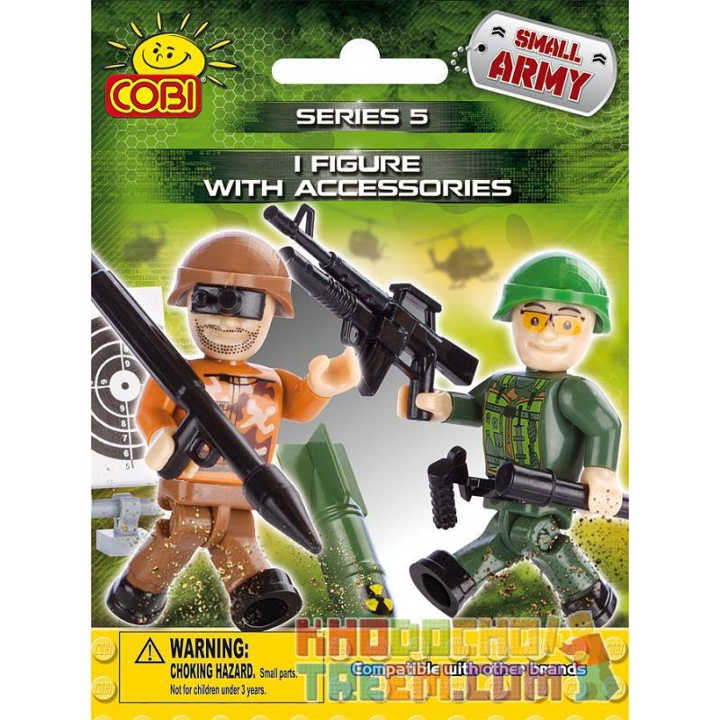 COBI 2005 Xếp hình kiểu Lego MILITARY ARMY 1 Figurine & Accessories Series 5 1 Figures And Accessories Series 5 1 Hình Và Loạt Phụ Kiện 5