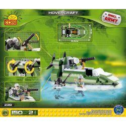 COBI 2319 Xếp hình kiểu Lego MILITARY ARMY Hovercraft Thủy Phi Cơ 150 khối