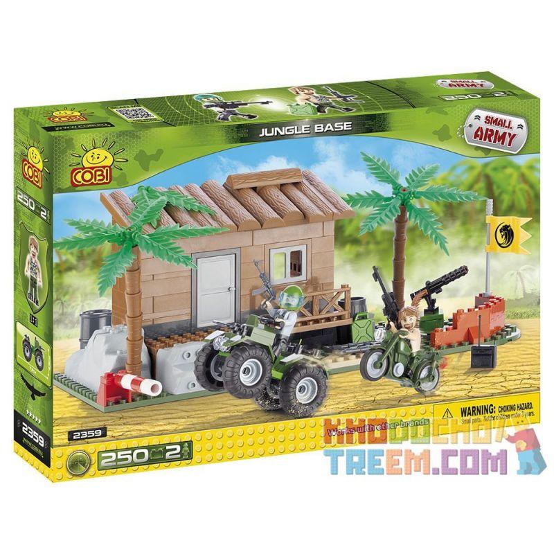 COBI 2359 Xếp hình kiểu Lego MILITARY ARMY Jungle Base Căn Cứ Rừng 250 khối