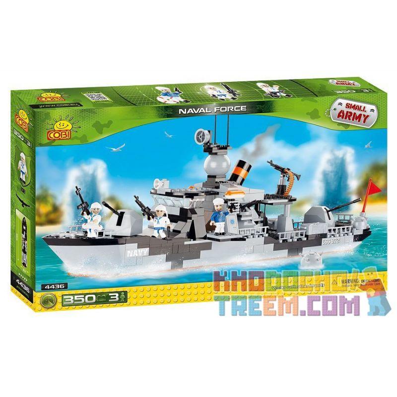 COBI 4436 Xếp hình kiểu Lego MILITARY ARMY Naval Forces Lực Lượng Hải Quân 350 khối