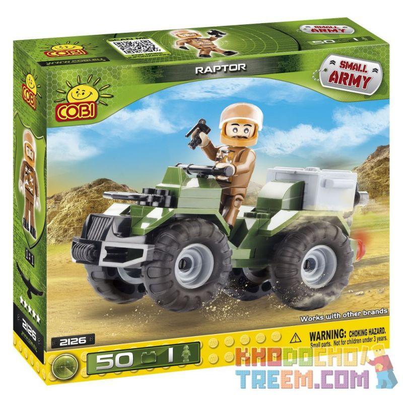 COBI 2126 Xếp hình kiểu Lego MILITARY ARMY Raptor Predator Động Vật ăn Thịt 50 khối