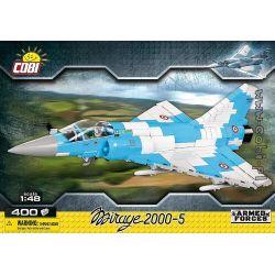 COBI 5801 Xếp hình kiểu Lego MILITARY ARMY Mirage 2000-5 Phantom 2000-5 Phantom 2000-5. 400 khối