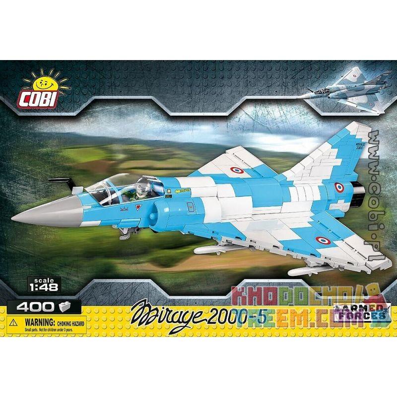 COBI 5801 Xếp hình kiểu Lego MILITARY ARMY Mirage 2000-5 400 khối