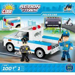 COBI 1546 Xếp hình kiểu Lego CITY Police Car Xe Cảnh Sát 100 khối