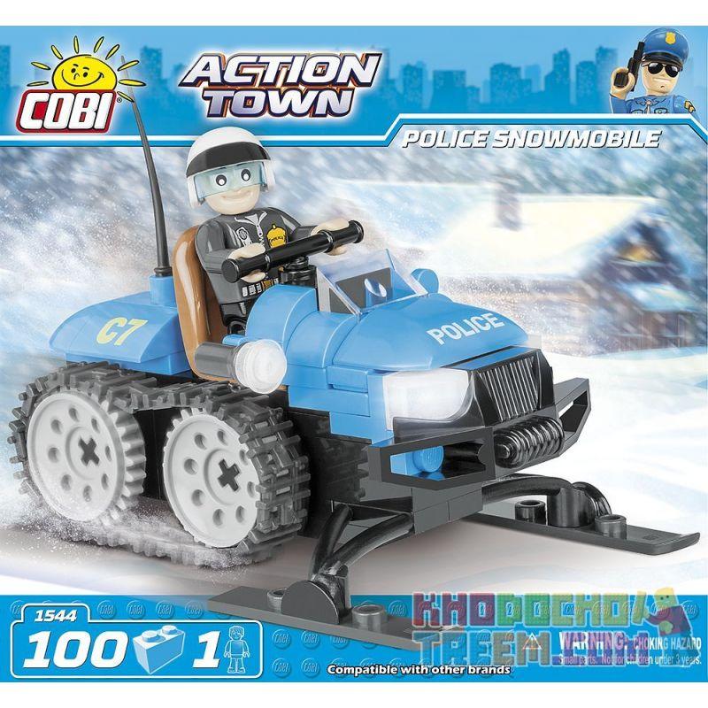 COBI 1544 Xếp hình kiểu Lego CITY Police Snowmobile Xe Trượt Tuyết Của Cảnh Sát 100 khối