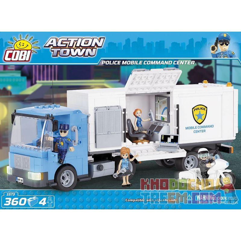 COBI 1573 Xếp hình kiểu Lego CITY Police Mobile Command Center Trung Tâm Chỉ Huy Cảnh Sát Cơ động 360 khối