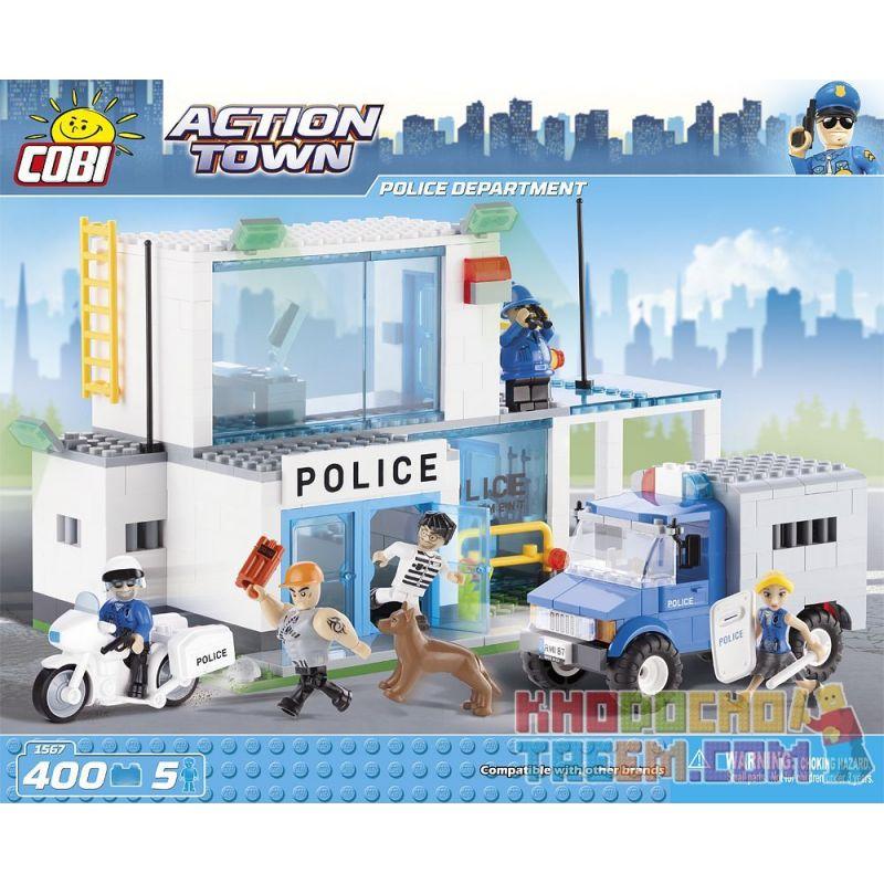 COBI 1567 Xếp hình kiểu Lego CITY Police Department Police Station Đồn Cảnh Sát 400 khối