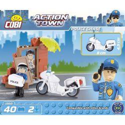 COBI 1560 Xếp hình kiểu Lego CITY Police Chase Cảnh Sat đuổi Theo 40 khối
