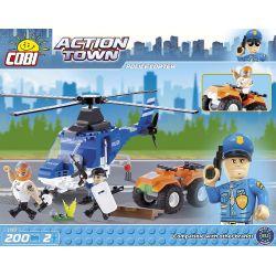 COBI 1563 Xếp hình kiểu Lego CITY Police Copter Police Helicopter Trực Thăng Cảnh Sát 200 khối