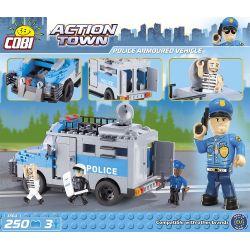 COBI 1564 Xếp hình kiểu Lego CITY Police Armoured Vehicle Police Armored Vehicle Xe Bọc Thép Cảnh Sát 250 khối