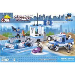 COBI 1565 Xếp hình kiểu Lego CITY Harbor Patrol Port Patrol Tuần Tra Cảng 300 khối