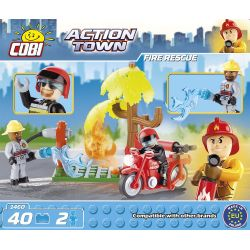 COBI 1460 Xếp hình kiểu Lego CITY Fire Rescue Cứu Hỏa 40 khối