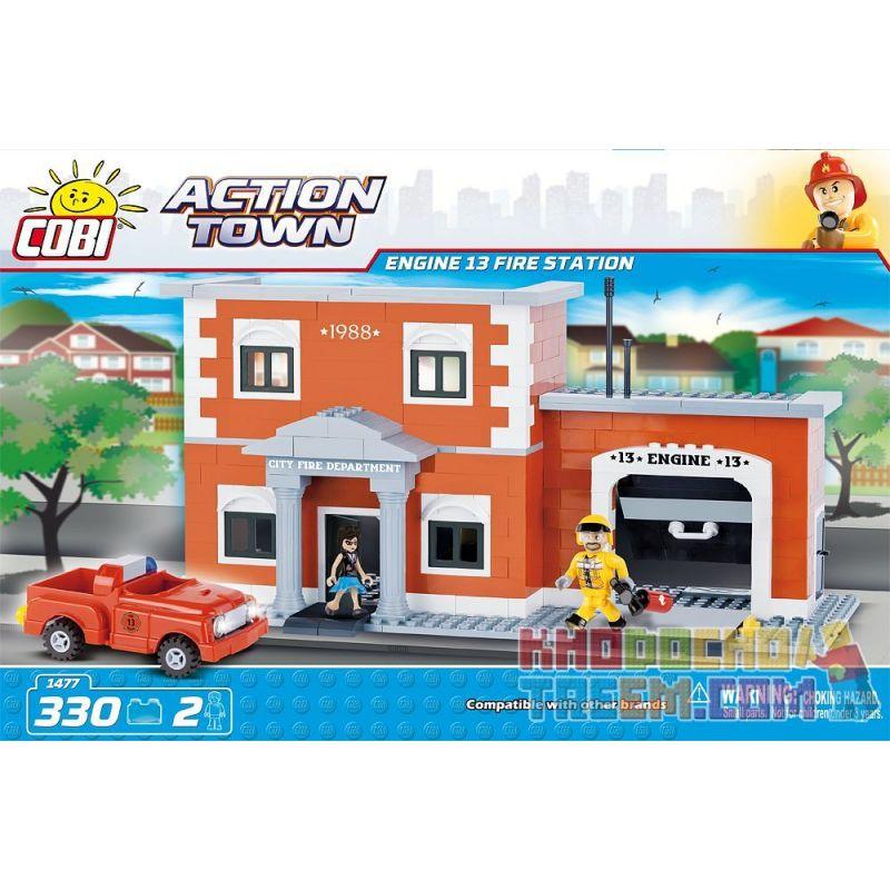 COBI 1477 Xếp hình kiểu Lego CITY Engine 13 Fire Station Trạm Cứu Hỏa động Cơ 13 330 khối