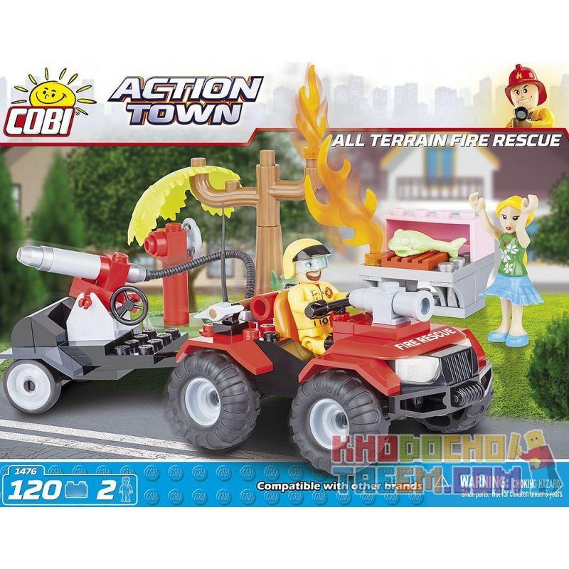 COBI 1476 Xếp hình kiểu Lego CITY All Terrain Fire Rescue Cứu Hỏa Mọi địa Hình 120 khối