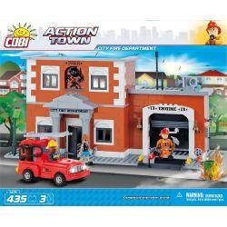 COBI 1475 Xếp hình kiểu Lego CITY City Fire Department Trạm Cứu Hỏa Thành Phố 435 khối