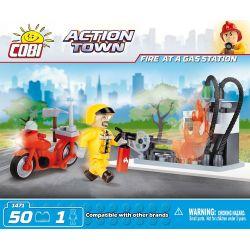 COBI 1471 Xếp hình kiểu Lego CITY Fire At A Gas Station Gas Station Fire Cháy Trạm Xăng 50 khối