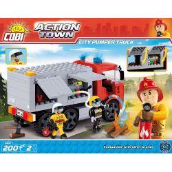 COBI 1468 Xếp hình kiểu Lego CITY City Pumper Truck City Fire Truck Xe Cứu Hỏa Tp. 200 khối