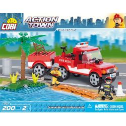 COBI 1463 Xếp hình kiểu Lego CITY Fire Rescue Cứu Hỏa 200 khối