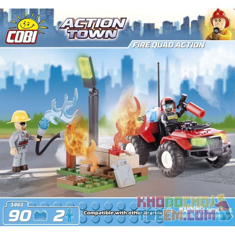 COBI 1461 Xếp hình kiểu Lego CITY Fire Quad Action Fire Brigade Action Hành động Của đội Cứu Hỏa 90 khối