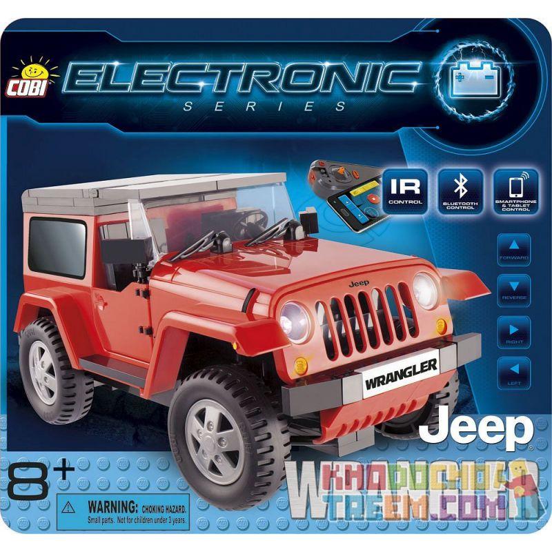 COBI 21920 Xếp hình kiểu Lego Jeep Wrangler (red, R C) Jeep Wrangler (red, Remote Control) Jeep Wrangler (màu đỏ, điều Khiển Từ Xa) 201 khối