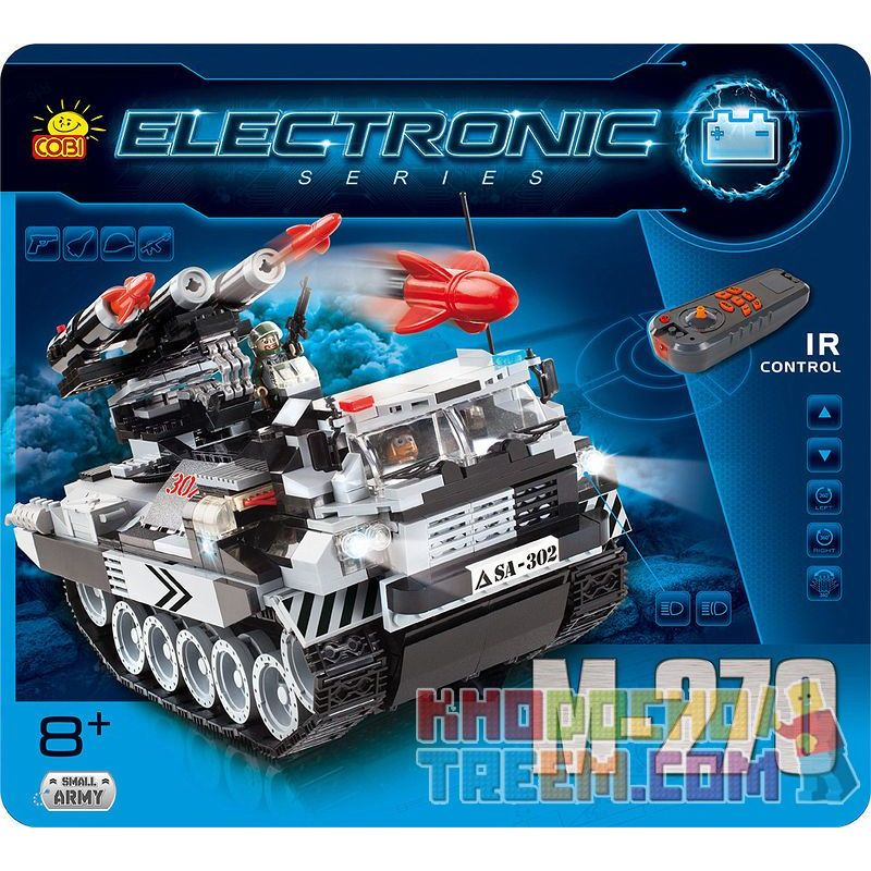 COBI 21903 Xếp hình kiểu Lego MLRS M-270 (r C) M270 Multi-tube Rocket (remote Control) M270 Nhiều Bệ Phóng Tên Lửa (điều Khiển Từ Xa) 578 khối