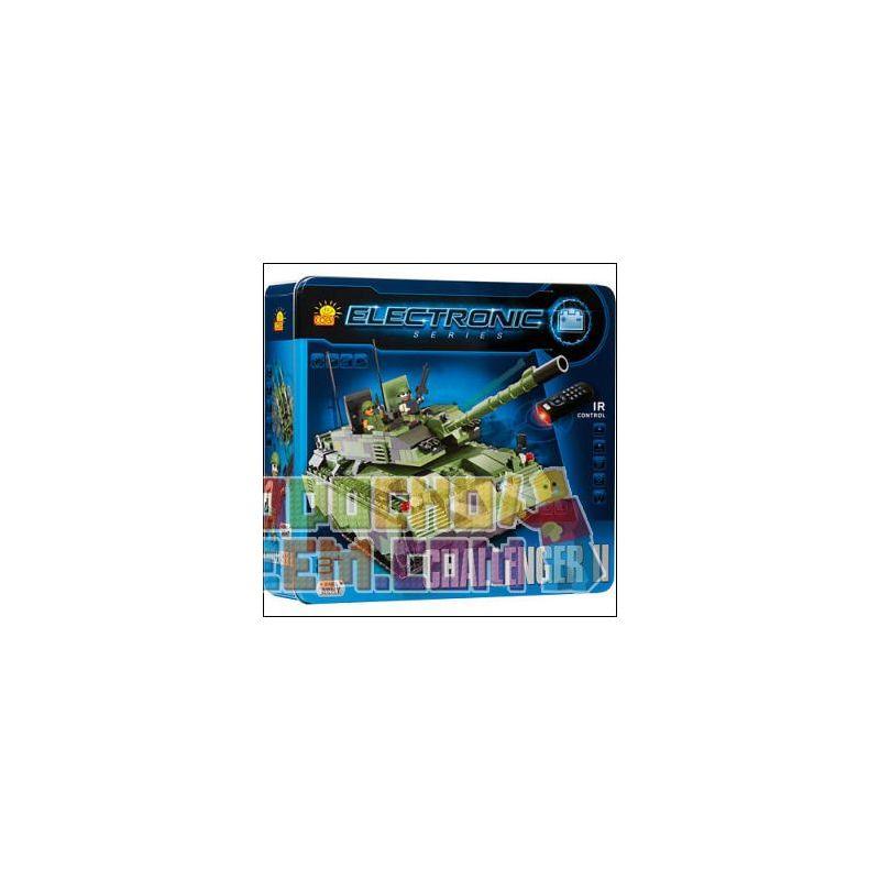 COBI 21902 Xếp hình kiểu Lego FROZEN Challenger II (r C) Challenger Tank II (Remote Control) Challenger Tank II (Điều Khiển Từ Xa)