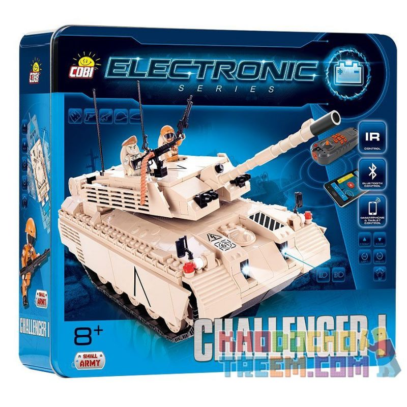 COBI 21905 Xếp hình kiểu Lego Challenger I (r C) Challenger Tank I (Remote Control) Challenger Tank I (điều Khiển Từ Xa)