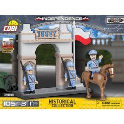 COBI 2980 2980 Xếp hình kiểu Lego MILITARY ARMY Independence Independent độc Lập gồm 2 hộp nhỏ 105 khối