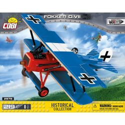 COBI 2978 Xếp hình kiểu Lego MILITARY ARMY Fokker D.VII Fokker D-VII Fighter Máy Bay Chiến đấu Fokker D-VII 219 khối