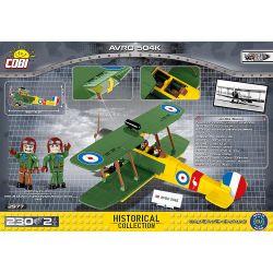 COBI 2977 Xếp hình kiểu Lego MILITARY ARMY AVRO 504K Aphrodite 504 Fighter Máy Bay Chiến đấu Aphrodite 504 230 khối
