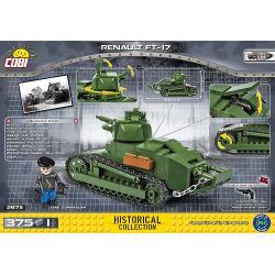 COBI 2973 Xếp hình kiểu Lego MILITARY ARMY Renault FT-17 Tank Xe Tăng Renault FT-17 375 khối