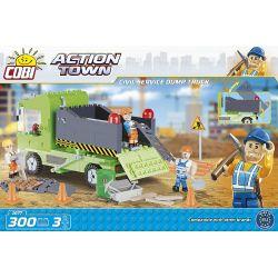 COBI 1677 Xếp hình kiểu Lego CITY Civil Service Dump Truck City Service Dump Truck Xe Ben Dịch Vụ Tp. 300 khối