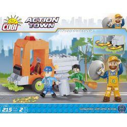 COBI 1784 Xếp hình kiểu Lego CITY Street Sweeper Người Quét đường 215 khối