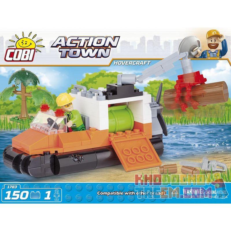 COBI 1783 Xếp hình kiểu Lego CITY Hovercraft Thủy Phi Cơ 150 khối