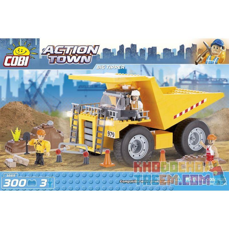 COBI 1665 Xếp hình kiểu Lego CITY Big Tipper Mine Dump Truck Xe Tải Chở Mìn 300 khối