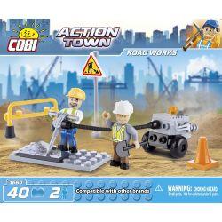 COBI 1660 Xếp hình kiểu Lego CITY Road Works Sửa đường 40 khối