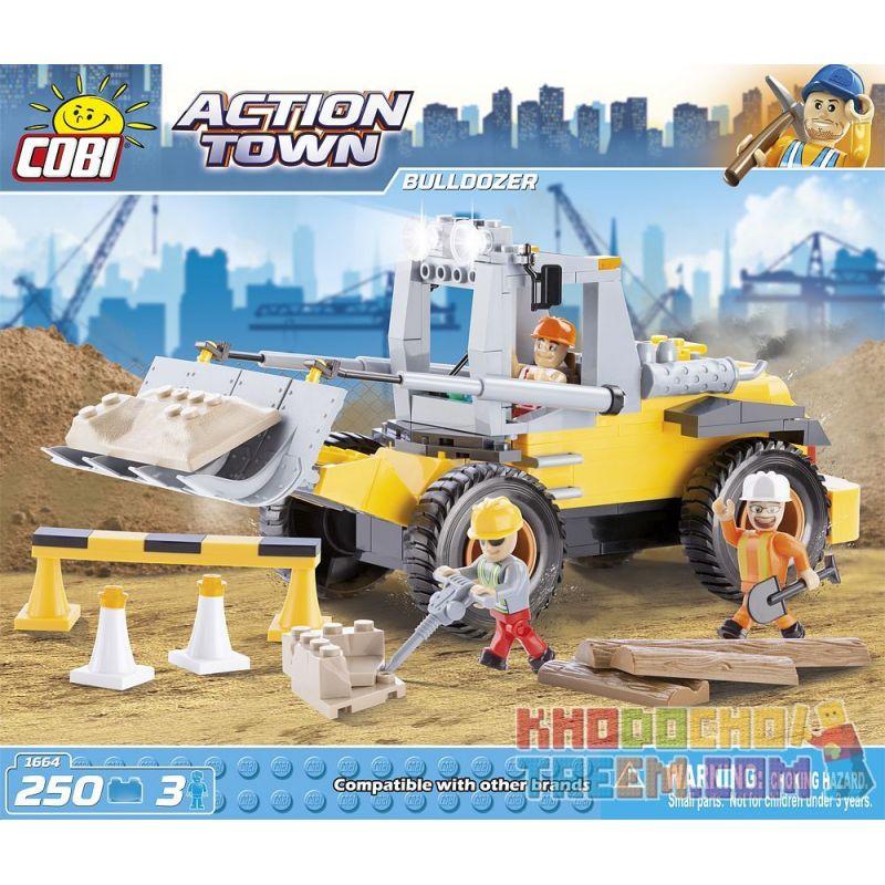 COBI 1664 Xếp hình kiểu Lego CITY Bulldozer Chiếc Xe ủi 250 khối