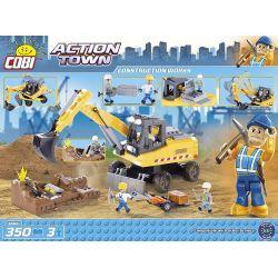 COBI 1666 Xếp hình kiểu Lego CITY Construction Works Construction Worker Công Nhân Xây Dựng 350 khối