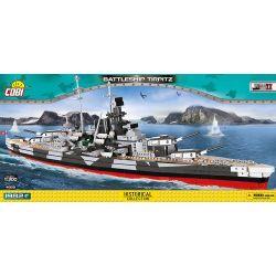 COBI 4809 Xếp hình kiểu Lego MILITARY ARMY Battleship Tirpitz Thiết Giáp Hạm Tirpitz 1982 khối
