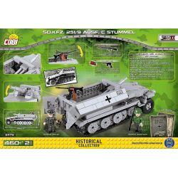 COBI 2472A Xếp hình kiểu Lego MILITARY ARMY Sd.Kfz.251 10 Ausf.C Stummel SdKfz 251 Half-track Vehicle Xe Bán Tải SdKfz 251 460 khối