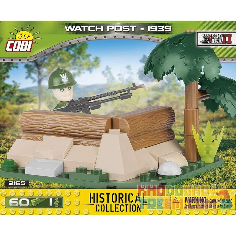 COBI 2165 Xếp hình kiểu Lego MILITARY ARMY Watch Post Outpost Tiền đồn 60 khối