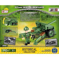 COBI 2159 Xếp hình kiểu Lego MILITARY ARMY 37 Mm Wz.36 Bofors Bofors 37mm War Defense Gun Súng Phòng Thủ Chiến đấu Bofors 37mm 70 khối