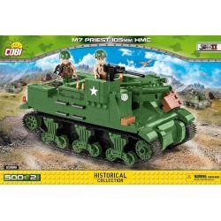 COBI 2386 Xếp hình kiểu Lego MILITARY ARMY M7 Priest 105 Mm HMC M7 Priest Self-propelled Artillery Pháo Tự Hành M7 Priest 500 khối