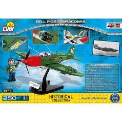 COBI 5547 Xếp hình kiểu Lego MILITARY ARMY Bell P-39Q Airacobra P-39 Aerial Cobra Cobra Trên Không P-39 250 khối