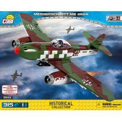 COBI 5543 Xếp hình kiểu Lego MILITARY ARMY Messerschmitt ME 262A Messerschmitt Me-262 Fighter Máy Bay Chiến đấu Messerschmitt Me-262 315 khối